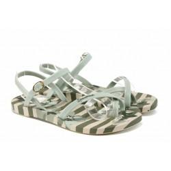 Анатомични дамски сандали Ipanema 82291 бежов-зелен | Бразилски чехли и сандали | MES.BG