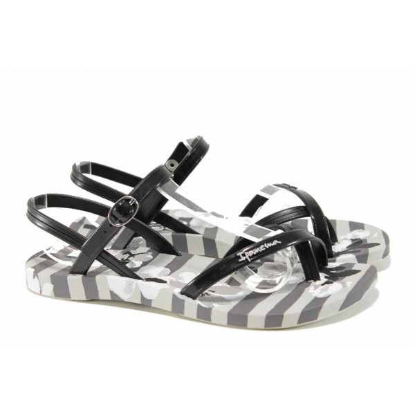 Анатомични дамски сандали Ipanema 82291 сив-черен | Бразилски чехли и сандали | MES.BG