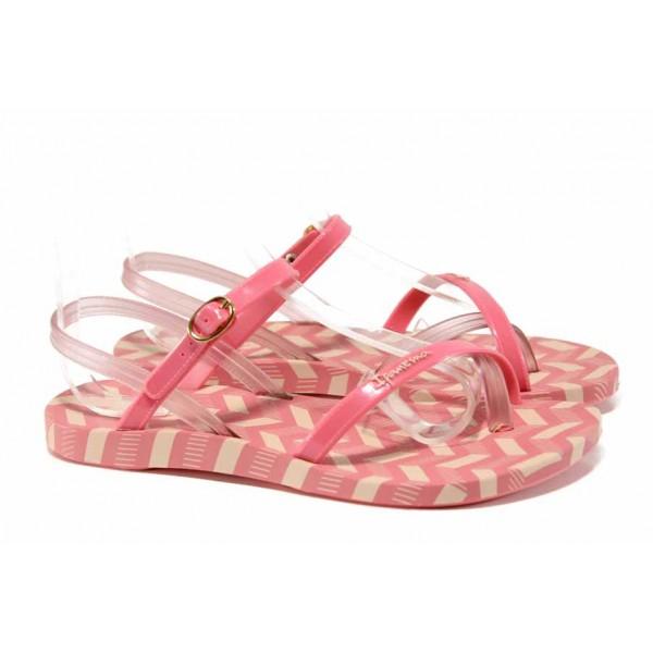 Анатомични дамски сандали Ipanema 82291 розов | Бразилски чехли и сандали | MES.BG