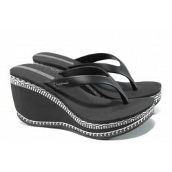 Дамски чехли на платформа Ipanema 82286 черен | Бразилски чехли | MES.BG