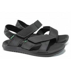 Анатомични мъжки сандали с мемори пяна Rider 82224 черен-зелен | Бразилски чехли и сандали | MES.BG