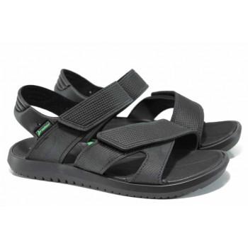 Анатомични мъжки сандали с мемори пяна Rider 82224 черен-зелен   Бразилски чехли и сандали   MES.BG