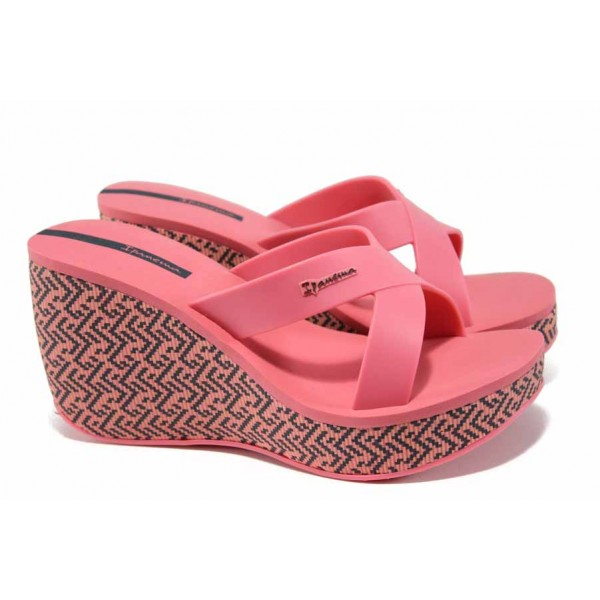 Дамски чехли на платформа Ipanema 82288 розов | Бразилски чехли | MES.BG