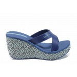 Дамски чехли на платформа Ipanema 82288 син | Бразилски чехли | MES.BG