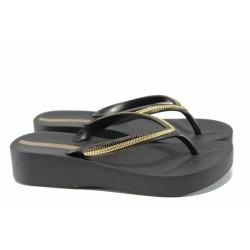 Анатомични дамски чехли Ipanema 82285 черен | Бразилски чехли | MES.BG