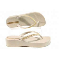 Анатомични дамски чехли Ipanema 82285 бежов | Бразилски чехли | MES.BG