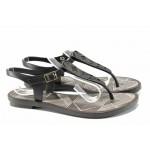 Равни дамски сандали Grendha 82274 черен-сив | Бразилски чехли и сандали | MES.BG