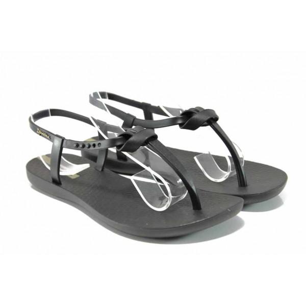 Равни дамски сандали Ipanema 82418 черен | Бразилски чехли и сандали | MES.BG
