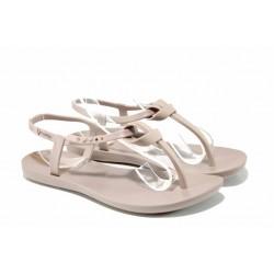 Равни дамски сандали Ipanema 82418 бежов | Бразилски чехли и сандали | MES.BG
