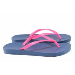 Анатомични дамски чехли Ipanema 81030 син-розов | Бразилски чехли | MES.BG