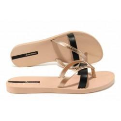 Равни дамски чехли Ipanema 81805 розов-черен | Бразилски чехли и сандали | MES.BG