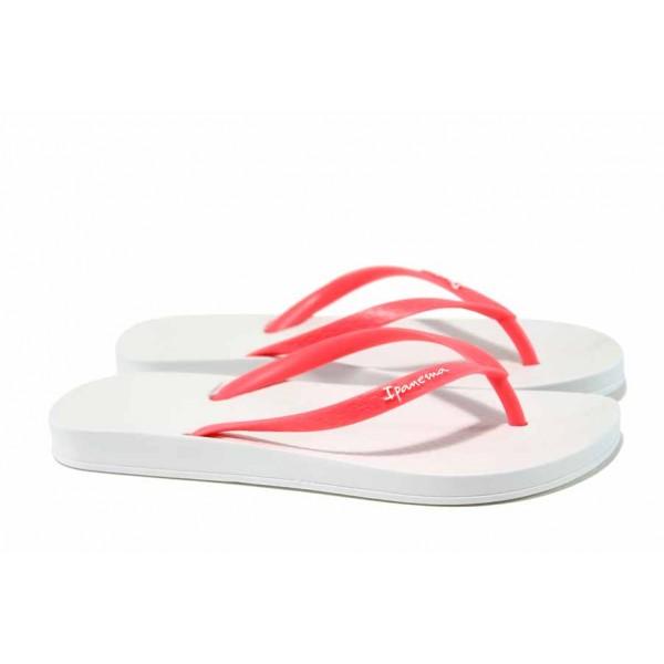 Анатомични дамски чехли Ipanema 81030 бял-розов   Бразилски чехли   MES.BG