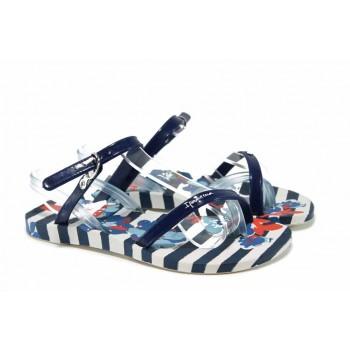 Анатомични детски сандали Ipanema 82292 син-бял 28/35 | Бразилски чехли и сандали | MES.BG