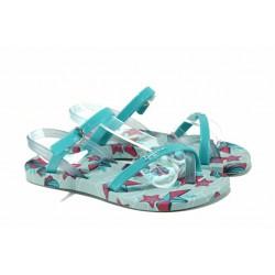 Анатомични детски сандали Ipanema 82292 зелен-син 28/35 | Бразилски чехли и сандали | MES.BG