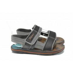 Анатомични детски сандали с лепенки Rider 82196 черен-сив 27/38 | Бразилски чехли и сандали | MES.BG
