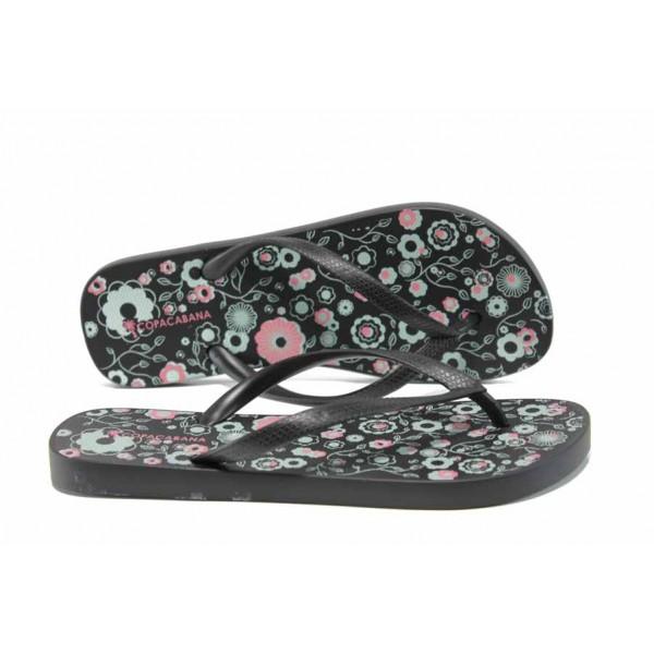 Равни дамски чехли Ipanema 82391 черен | Бразилски чехли | MES.BG