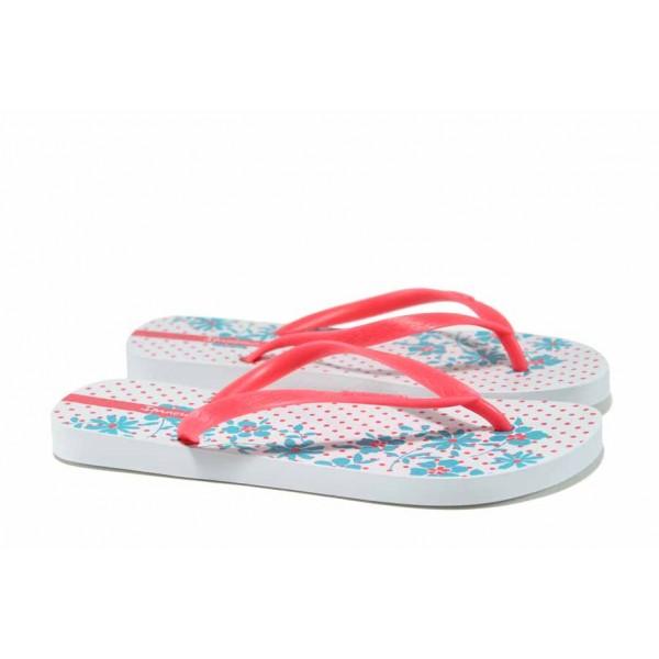 Равни дамски чехли Ipanema 82248 бял-розов   Бразилски чехли   MES.BG