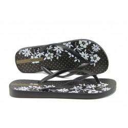 Равни дамски чехли Ipanema 82248 черен | Бразилски чехли | MES.BG