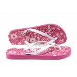 Равни дамски чехли Ipanema 82391 розов-бял   Бразилски чехли   MES.BG