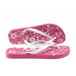 Равни дамски чехли Ipanema 82391 розов-бял | Бразилски чехли | MES.BG