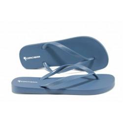 Равни дамски чехли Ipanema 82381 син | Бразилски чехли | MES.BG