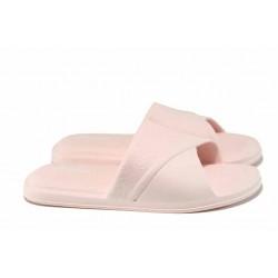 Дамски чехли с цяла лента АБ 8820 розов | Дамски гумени чехли | MES.BG