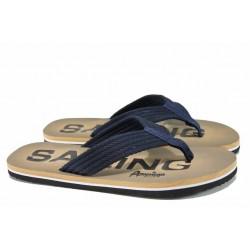 Мъжки джапанки с лента между пръстите АБ 1609804 черен | Мъжки джапанки и чехли | MES.BG