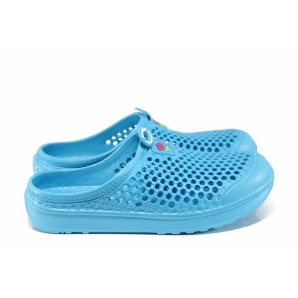 Дамски чехли-сандали /тип крокс/ АБ 6688 син | Дамски гумени чехли | MES.BG