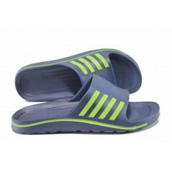 Мъжки джапанки с олекотено ходило Runners 181-15641 син | Мъжки джапанки и чехли | MES.BG