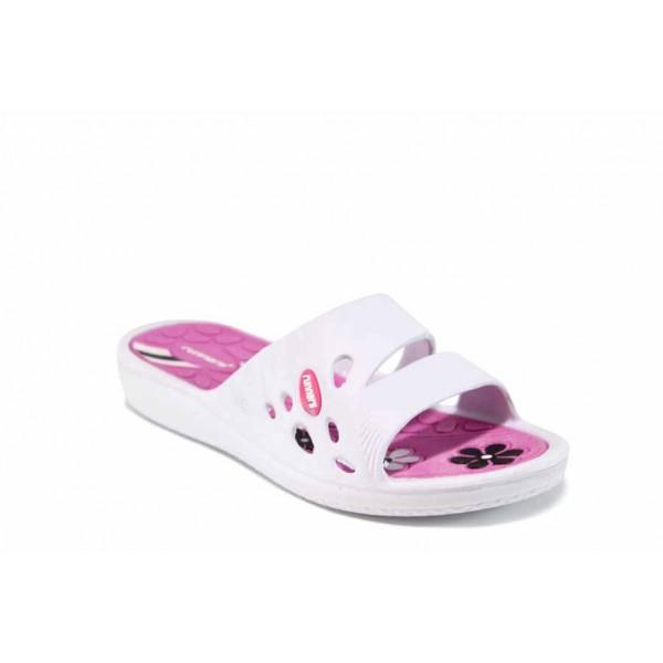 Дамски джапанки с олекотено ходило Runners 181-15608 бял-розов | Дамски джапанки и чехли | MES.BG