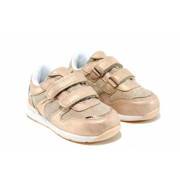 Комфортни детски маратонки с лепенки АБ 17381 розов 27/31 | Детски маратонки | MES.BG