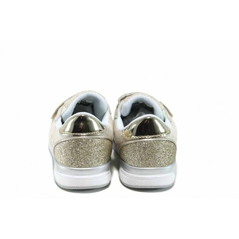 Комфортни детски маратонки с лепенки АБ 17381 злато 27/31 | Детски маратонки | MES.BG