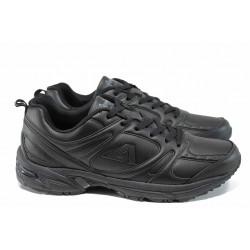 Мъжки класически маратонки АБ 06165 черен гигант | Мъжки маратонки | MES.BG