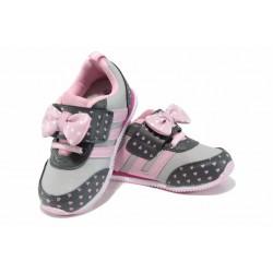 Анатомични бебешки маратонки АБ 17005 сив-розов 22/26 | Детски маратонки | MES.BG