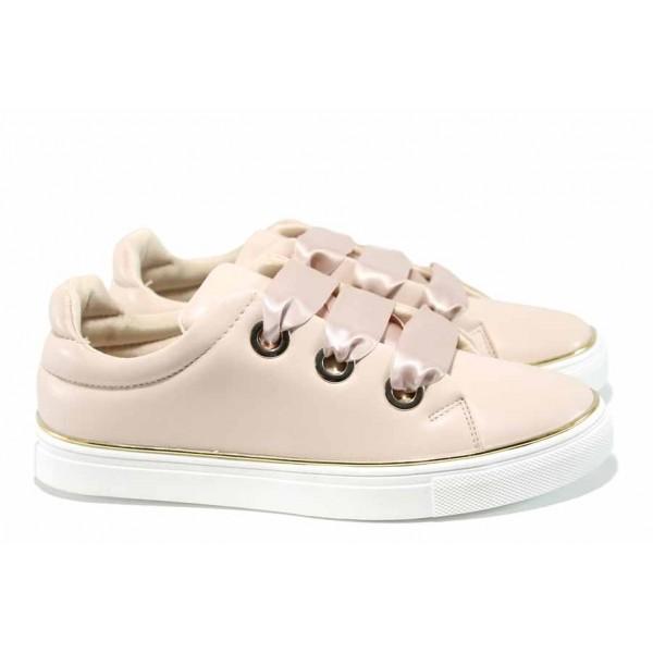 Дамски спортни обувки с модерна визия АБ 17152 розов | Дамски маратонки | MES.BG