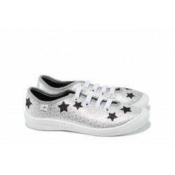 Анатомични детски обувки МА MALWA сребро 30/35 | Домашни пантофки | MES.BG