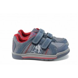 Комфортни детски маратонки с лепенки АБ 151082 син 27/31 | Детски маратонки | MES.BG