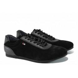 Мъжки спортни обувки с FLEX система ЛД 208 черен | Мъжки ежедневни обувки | MES.BG