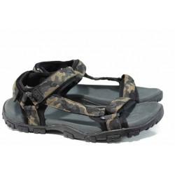Анатомични мъжки сандали АБ 1729 камуфлаж гигант | Мъжки чехли и сандали | MES.BG