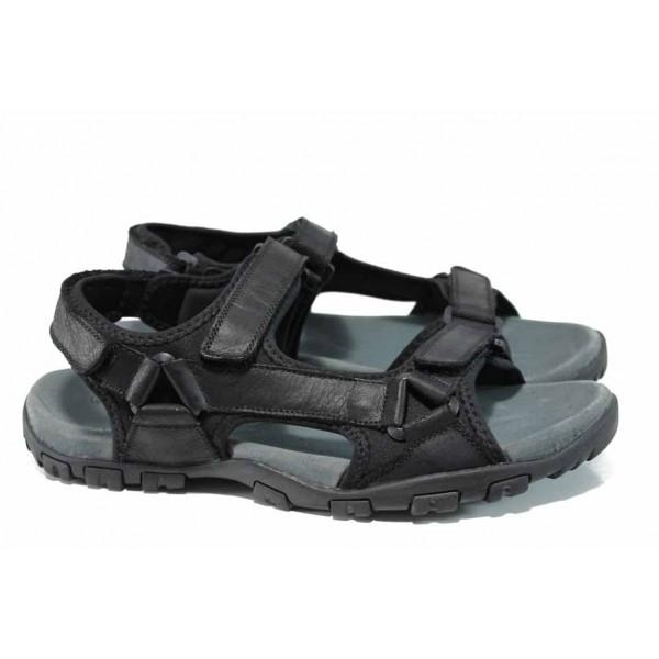 Анатомични мъжки сандали АБ 1720 черен гигант   Мъжки чехли и сандали   MES.BG