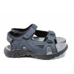 Анатомични мъжки сандали АБ 80152 син | Мъжки чехли и сандали | MES.BG