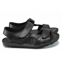 Мъжки сандали на комфортно ходило МИ 088 черен | Мъжки чехли и сандали | MES.BG