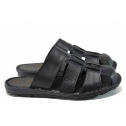 Анатомични мъжки чехли МИ 080 черен | Мъжки чехли и сандали | MES.BG