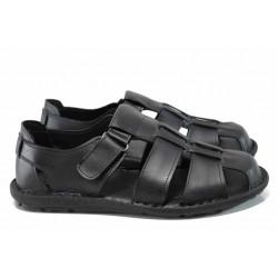 Анатомични мъжки сандали МИ 030 черен | Мъжки чехли и сандали | MES.BG