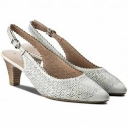 Дамски обувки от естествена кожа Caprice 9-29601-20 бял | Немски обувки на среден ток | MES.BG