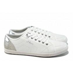 Юношески спортни обувки с мемори пяна S.Oliver 5-23631-20 бял | Немски равни обувки | MES.BG