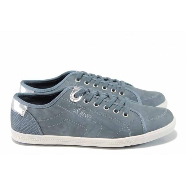 Юношески спортни обувки с мемори пяна S.Oliver 5-23631-20 син   Немски равни обувки   MES.BG