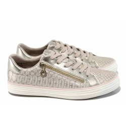 Дамски спортни обувки с мемори пяна S.Oliver 5-23615-20 розов злато | Немски равни обувки | MES.BG