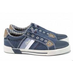 Мъжки кецове с FLEX система S.Oliver 5-14603-20 т.син | Мъжки немски обувки | MES.BG