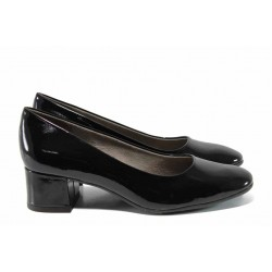 Дамски обувки на среден ток Jana 8-22302-20G черен | Немски обувки | MES.BG
